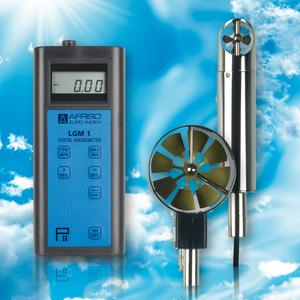The new AFRISO LGM 1 air speed measuring instrument allows for adjustment of the air speed in air conditioning and ventilation systems as well as measurement of the air flow in air ducts and extraction systems