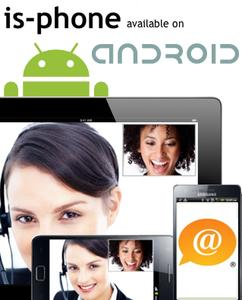 is-phone Mobile Android edition with video calls now available on the market store