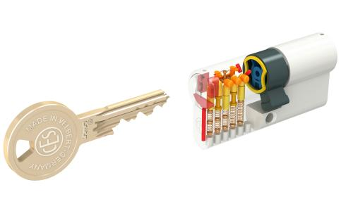 VdS-anerkannter CES-Sicherheitszylinder für Wohnungen und Einfamilienhäuser