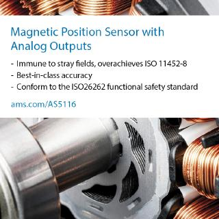 ams drives automotive electrification with new highest reliability and durability rotary position sensor