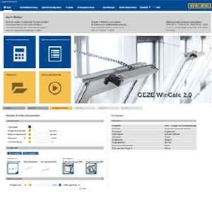 GEZE WinCalc 2.0, Picture: GEZE GmbH