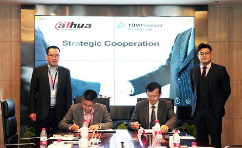 Vertragsunterzeichnung zwischen Dahua Technology und TÜV Rheinland (Shanghai) Ltd.