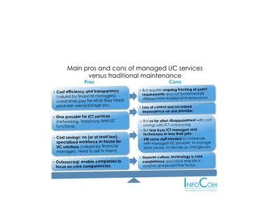 Main pros & cons of managed UC Services versus traditional maintenance