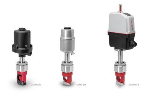 Single-Use Schlauchquetschventile - Pneumatisch betätigte Ventile GEMÜ Q30 und Q40 sowie elektromotorisch betätigtes Ventil GEMÜ Q50 eSyStep