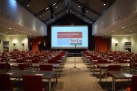 Kurz vor Veranstaltungsbeginn des Simba Kundentages in Frankfurt