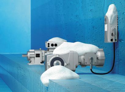 Mit der Oberflächenveredelung nsd tupH bietet NORD einen überaus leistungsstarken Korrosionsschutz für Getriebe, Glattmotoren, Frequenzumrichter und Motorstarter im washdown-optimierten Aluminiumgussgehäuse an