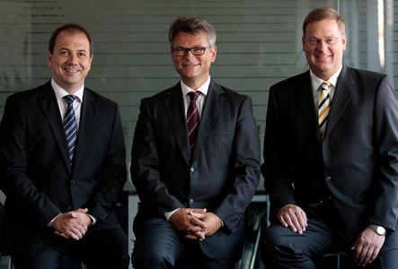 Neues dynamisches Team an der Spitze von S&T Austria – Patrick Schnebel, Eduard Bugelnig, Robert Latka (v.l.n.r.) Copyright: S&T