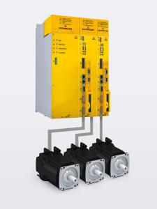 The compact motors of the DSC series are operated with converters of the series b maXX 5000, which have optional safety functions and either a single or double axis depending on the application requirements