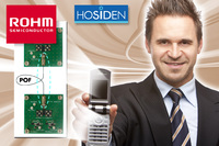 ROHM and Hosiden Announce The Industry's First  Ultra-compact High-speed Inter-substrate  Optical Communication Module-Unit