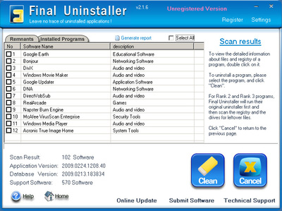 Final Windows Uninstaller v2009.07 - System Utilities