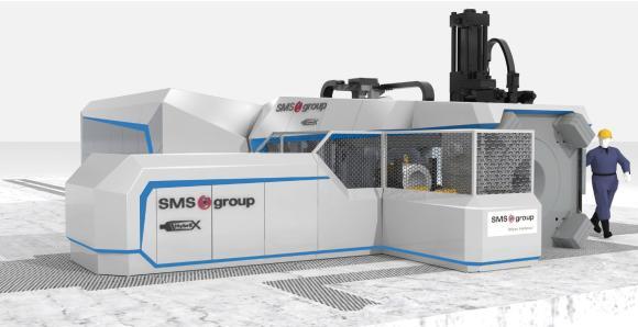 Neue Strangpresse HybrEx®35 mit schallisolierender Einhausung von der SMS group