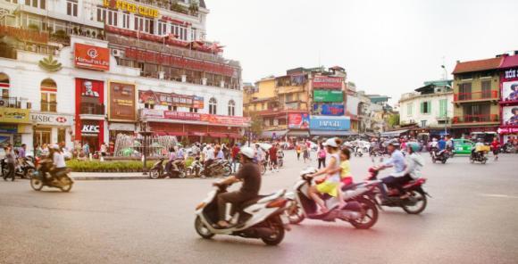 Geschäftiges Treiben in Vietnam
