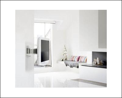 Perfekt für eine stilvolle, weiße Umgebung, der SMS Flatscreeen WL 3D in Glossy White