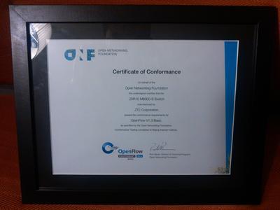 ZTE erhält Zertifizierung für OpenFlow v1.3 SDN Standard