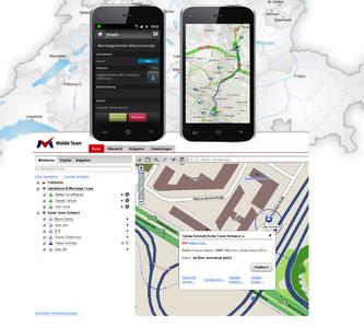 Navigation can be used seamless from the mobile workforce app