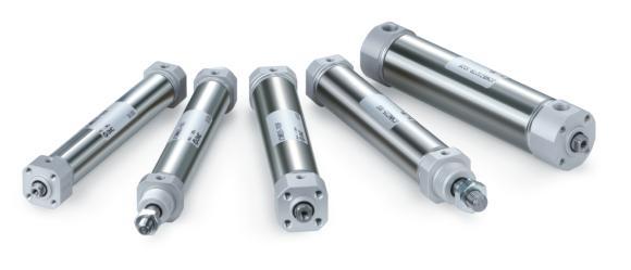 Die JCM Druckluftzylinder der neuesten Generation sind Raum- und Gewichtswunder: im günstigsten Fall sind sie über 60 % kürzer und über 50 % leichter als ihre Vorgängermodelle der Serie CM2
