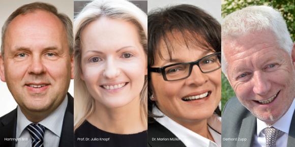 Der neue Vorstand des Didacta Verbandes der Bildungswirtschaft: Hartmuth Brill, Prof. Dr. Julia Knopf, Dr. Marion Müller, Gerhard Zupp (v.l.)