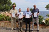 Award winners (from left to right): Rudolf Grimm, Tin-Lun (Jason) Ho, Martin Zwierlein, Tilman Esslinger Photo credit: IQOQI