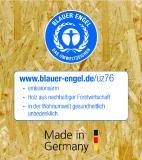 Der Blaue Engel für SWISS KRONO OSB/3 EN300, OSB/4 BAZ und OSB/F**** aus Heiligengrabe/Brandenburg