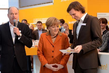 A. Merkel, Secusmart CeBIT 2014 / Fotograf J. Hemmen