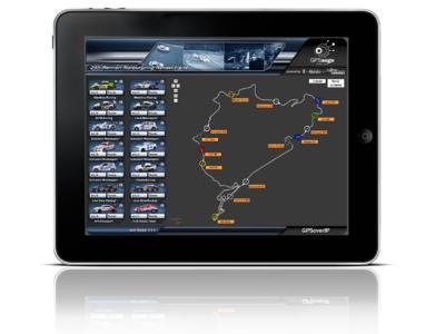 Auf dem iPad lassen sich Autorennen live verfolgen!