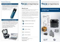 PCB Synotech Kalibrierung von Vibrationssensoren nach ISO 17025
