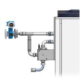 Measure and control flow directly at the temperature control unit