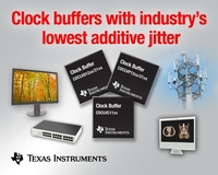 TI delivers three high-performance clock buffer families  with industry's lowest additive jitter