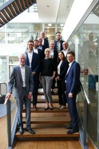 Abschluss des Projektes Future-SCM: Das Konsortium und Vertreterin des Successful-Practice-Unternehmens Freudenberg Performance Materials Holding SE & Co. KG [© FIR]