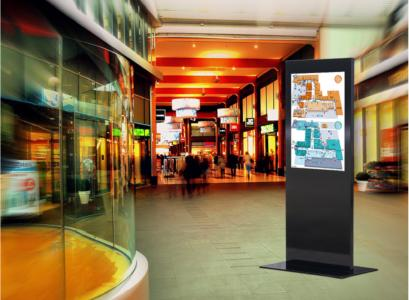 MonLines Design Display Stele Anwendung Flughafen
