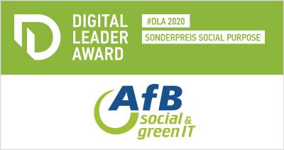 DIGITAL LEADER AWARD 2020 für AfB gGmbH