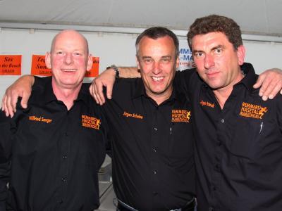 Das Orga-Trio des Remmers Hasetal-Marathons, v.l.n.r. Wilfried Senger, Jürgen Schelze und Jürgen Patock, ist optimistisch, dass es wieder ein Sommernachtstraum wird (Bildquelle: www.marathon4you.de)