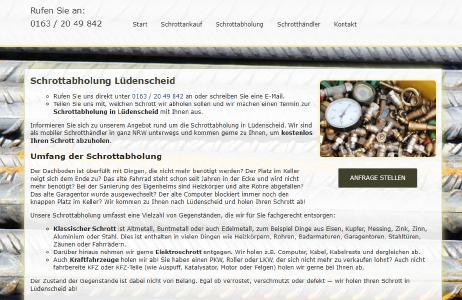 Schrottabholung, Lüdenscheid, NRW, Altmetall, Schrott, Elektroschrott, Eisen, Metall, Zink, Zinn, Alu
