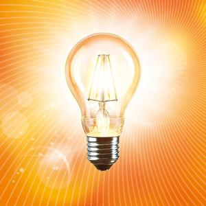 The vosLED light bulb produces warm, comfortable light.