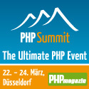 PHP Summit - The Ultimate PHP Event - startet am 22. März in Düsseldorf