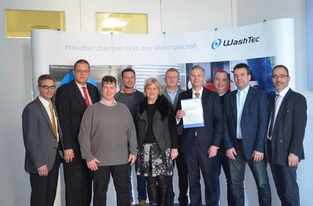 Das Unternehmen WashTec erhält Sicherheitspreis der BGHM für ausgezeichneten Arbeitsschutz