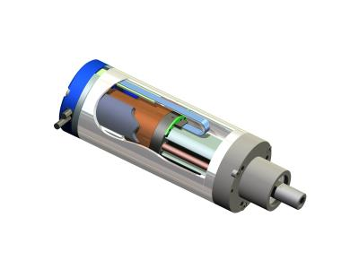 Moving Coil Actuator Cylinder Cross Section