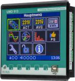 UMD 913 Energiequalitätsmesssysteme mit integriertem Störschreiber zur   professionellen Netzanalyse Das UMD 913 ist ein leistungsstarkes, multifunktionales, hochpräzises Messinstrument für den Schalttafeleinbau. Es misst 4-phasig Strom und Spannung im 4-Quadrantenbetrieb, in Klasse 0,05 und damit die Arbeit in Klasse 0,2s. Ganz gleich welche Vorgänge in Energiesystemen ablaufen, die Netzanalysatoren UMD 913 registrieren auch kleinste Störungen oder Veränderungen. Alle Parameter der elektrischen