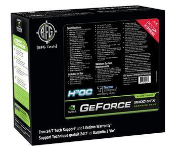 BFG Technologies kündigt GeForce 9800 GTX H2OC 512MB Grafikkarte mit ThermoIntelligence Wasserkühlung an