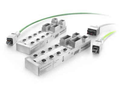 Weidmüller u-mation automation and digitalisation portfolio: u-remote I/O modules in IP67 protection class with PushPull plug-in connectors for copper and POF