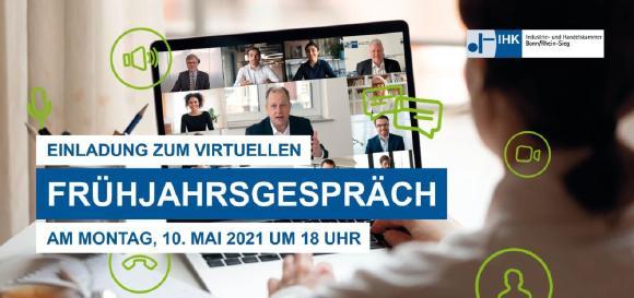 Einladungskarte Frühjahrsgespräch 2021  - 1. Seite