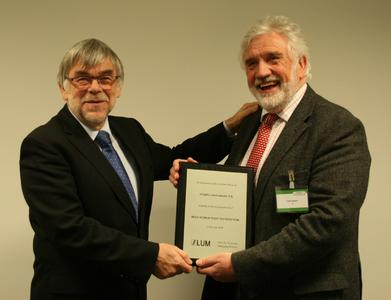 from left to right: Prof. Dr. Lerche (LUM GmbH, GER), Mr. Colin Jenkins (Adaptive Instruments, UK)