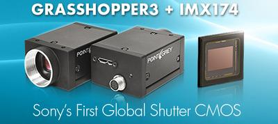Point Grey's Latest Grasshopper3 USB3 Vision Camera is First to Feature Sony Global Shutter CMOS Technology