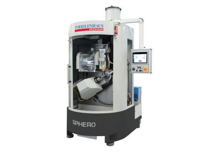 The new Sphero combination machining solution by Thielenhaus Microfinish makes it possible to machine spherical workpieces fully automatically to complete and controlled components with great precision.