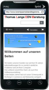 HTC Evo screenshot