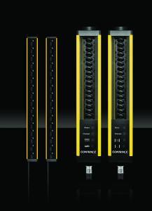 Die neuen, ultradünnen Typ-2-Lichtvorhänge Safetinex Slim (26 mm x 26 mm) sind eine platzsparende Ergänzung zur Safetinex-Reihe