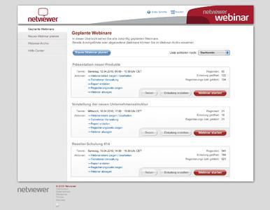 Netviewer Webinar Screenshot