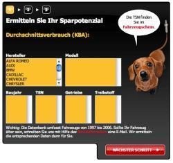 Der Spritsparrechner ist auf www.lambdasonde.de zu sehen