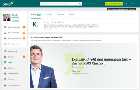 Klartext - XING launcht neues Medienformat