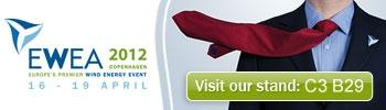 You can find BBB at EWEA Copenhagen (16 - 19.04.2012) at stand C3B29.